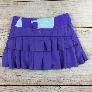 Lululemon pace setter lavender purple skirt 4